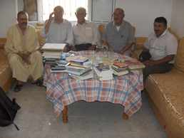 au centre : Moulay Ali Tahiri doyen de la zaouia