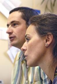 Sébastien Sauvé et Liza Viglino