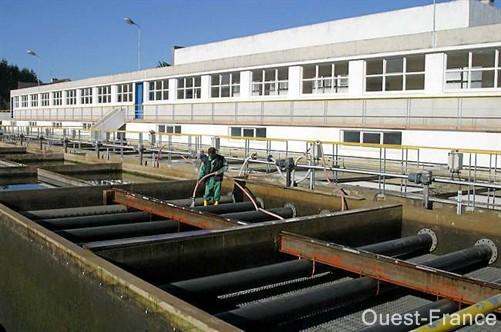 L'usine de production d'eau de Pont-ar-Bled. Le collectif « Pour une gestion publique de l'eau » nourrit quelques doutes sur l'entretien du réseau. .