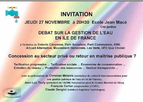 INVITATION REUNION PUBLIQUE A ARCUEIL JEUDI 27 NOVEMBRE
