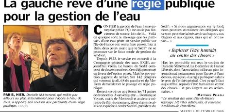 Ile-de-France : La gauche rêve d'une régie publique pour la gestion de l'eau.