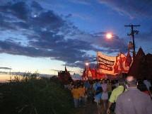 Après Porto Alegre, Danielle Mitterrand est allée à la rencontre des populations du Brésil