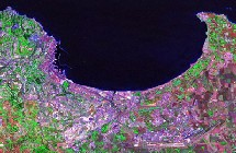 baie d'Alger 2000 vue satellite Nasa