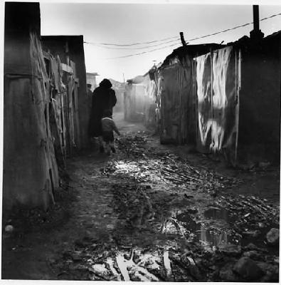 photo de Jean Pottier, journaliste reporter photographe, restrospective du bidon ville de Nanterre dans les années 1960