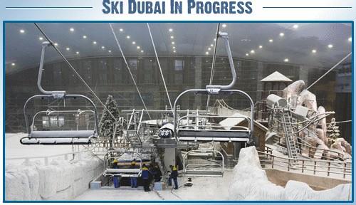 Ski Dubai in Progress