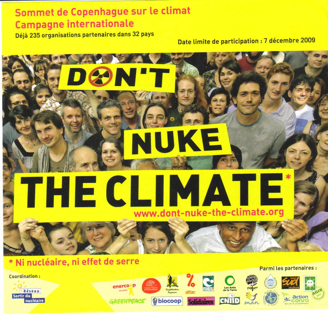 Sommet de Copenhague camapgne internationale www.dont-nuke-the-climate.org