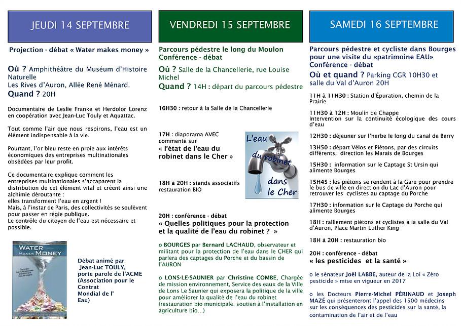Marche pour l'eau Bourges 14 septembre 2017