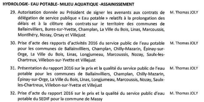 Ordre du jour du conseil communautaire de Paris Saclay 22 novembre 20h30 à Orsay avec 55 questions