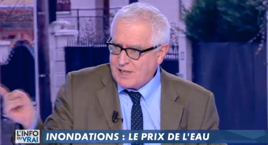 Canal+ L'info du vrai 5 février (30mn) animée par Yves Calvi avec Marc Laimé : Inondations : le prix de l'eau