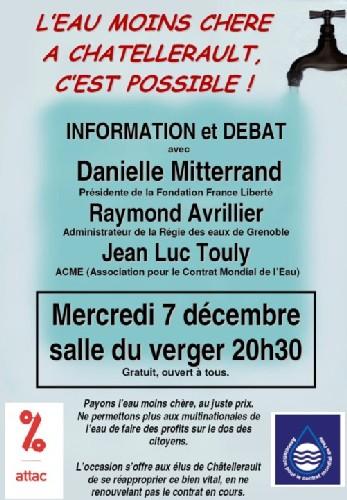 Débat public le 7 décembre 2005 à Chatellerault