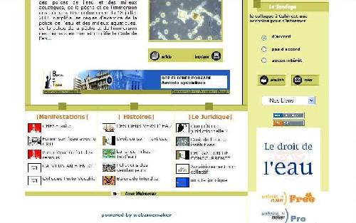 'WEBZINEMAKER', Partenaire de l'action le DROIT de L'EAU.