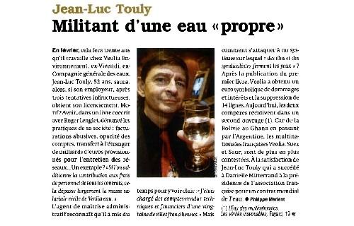 La revue de presse du livre ' L'Eau des multinationales », Fayard, 19 € '.