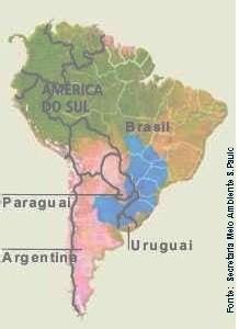 L'eau convoitée de l'aquifère Guarani ( <font color='red' size=4> ou L'ENJEU d'une GUERRE économique DE L'EAU)