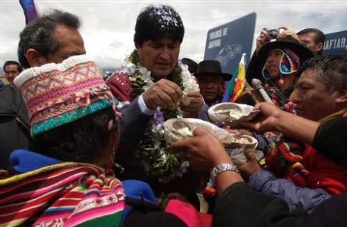 Evo Morales Président AP