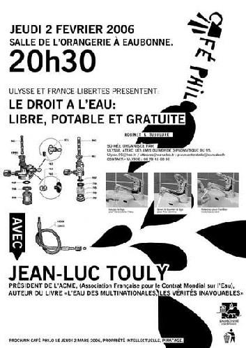 Débat public le 2 février à Eaubonne(95) : Le droit de l'eau