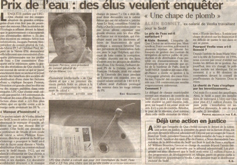 article du Parisien du 03/02/06