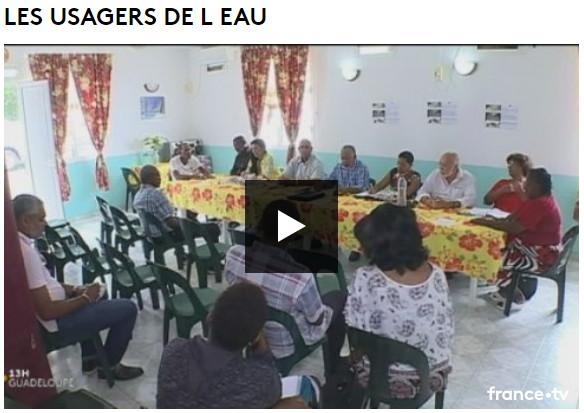 Conférence de presse des associations d'usagers de l'eau de Guadeloupe avec J Davila du Fricc et G Paran président du comité des usagers de l'eau