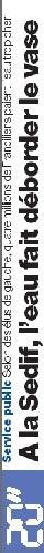 Journal 20 minutes du 14 février :  <font color='red' size=4> Des élus franciliens pour une eau moins chère</font>