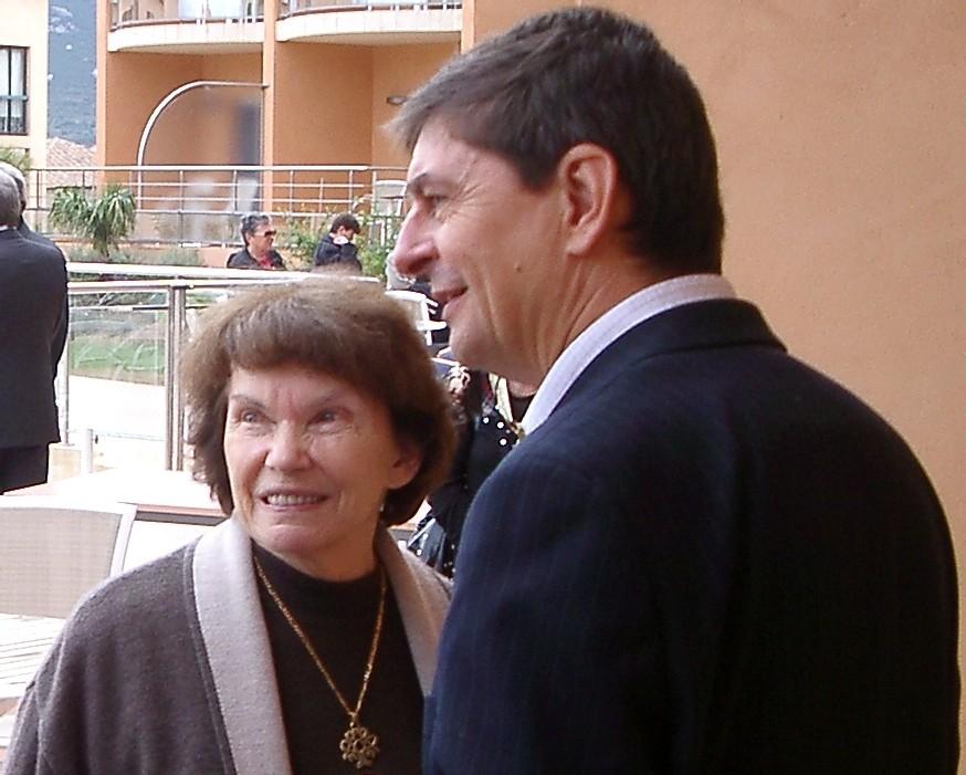 D Mitterrand et JL Touly