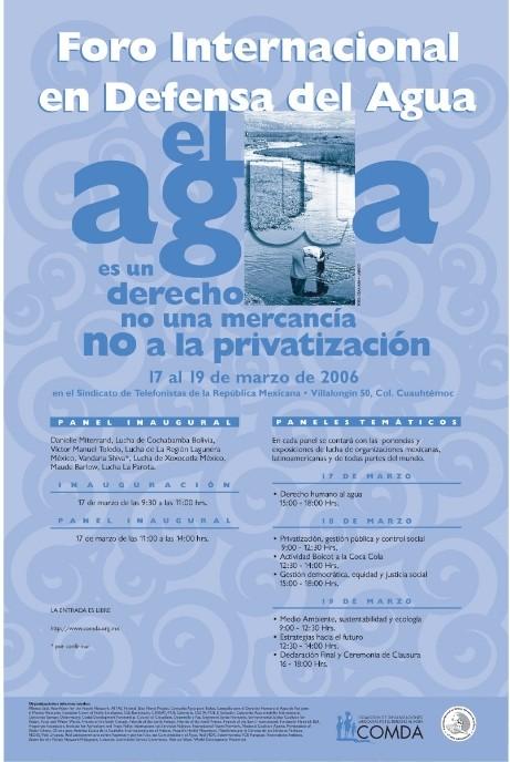 Le 4ème Forum Mondial de l'Eau à Mexico : Une tribune pour les Lobbies Français de l'eau
