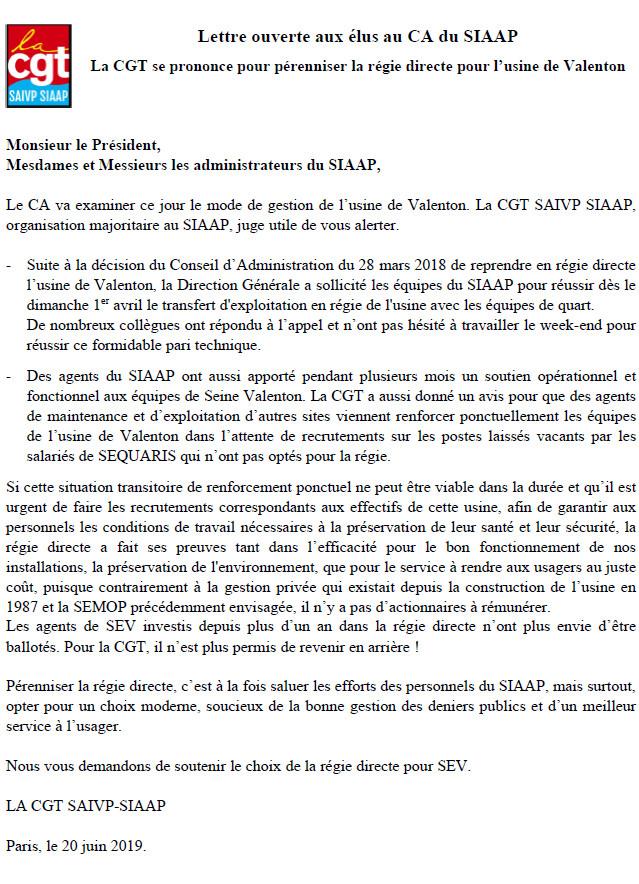 Risque de reprise de la SEMOP au SIAAP