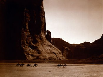 Navajos dans le Canyon de Chelly