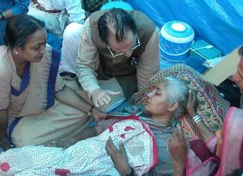 Medha Patkar pendant la grève de la faim