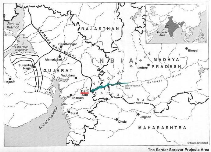 carte de localisation du barrage