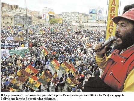 Union contre la libéralisation des services d'Eau et d'assainissement en Amérique Latine