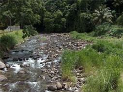 cours d'eau asséché par les pompages