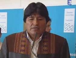 Evo Morales était à Paris le 14 Mai 2006