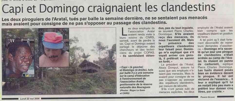 SOS <font color='red' size=5>On assassine impunément pour l'orpaillage en Guyane </font>