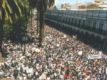 manifestation en Bolivie