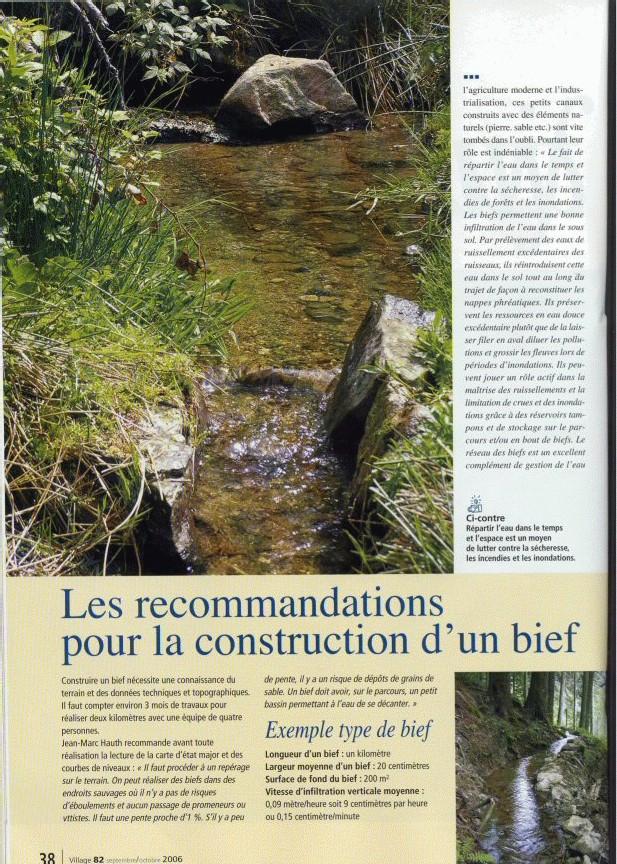 <center> BIEFS  : Une gestion globale de l'eau à creuser !</center>