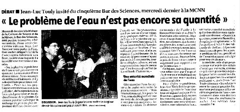 Débat à Nevers le 20 septembre 2006 l'article du Journal du Centre