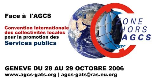 Compte-rendu de  participation à l'Assemblée Mondiale des Elus et Citoyens pour l'Eau du 28 et 29 octobre à