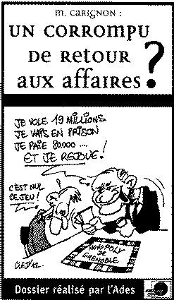 Monopoly des législatives : Alain Carignon dans la course aux Législatives