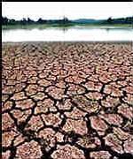 sécheresse des rives du Fleuve Jaune