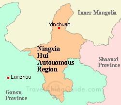 la province Ningxia automne