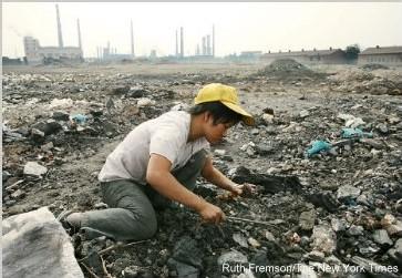 Ramasseuse de morceaux de charbon