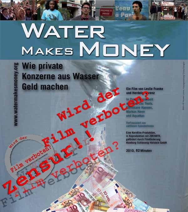 TV orange : Au terme du procès, pour les observateurs allemands, l'accusation contre le film Water Makes Money a été rejetée