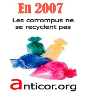 Campagne électorale d'ANTICOR à l'occasion de ses vœux de 2007 le 29 janvier à 17h30