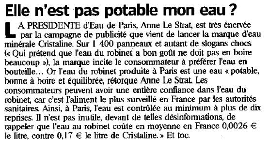article du parisien du 12 janvier07