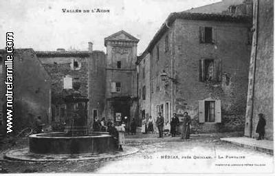 la fontaine du village de Nébias dans l'Aude