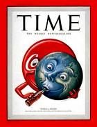 Dès 1950,l'hebdomadaire Time consacre la suprématie de Coca-Cola sur le monde avec une couverture appelée à devenir célèbre.
