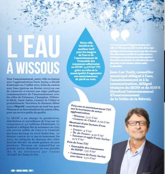 L'eau à Wissous ville essonnienne