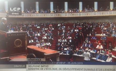 La réponse de Mme Batho, ministre de l'Ecologie... à la question posée par François-Michel Lambert, député EELV (Groupe Écologie) des Bouches-du Rhône, lors des questions au Gouvernement du 05 juin 2013 à l'Assemblée Nationale