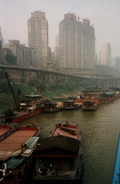 Rives du Yang Zi Jiang à Chongqin