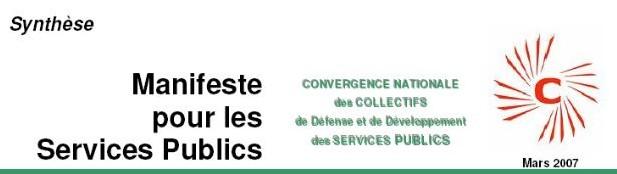 ÉTATS GÉNÉRAUX du SERVICE PUBLIC le 10 MARS 2007 Á PARIS