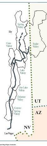 frontière de du Nevada et de l'Utah